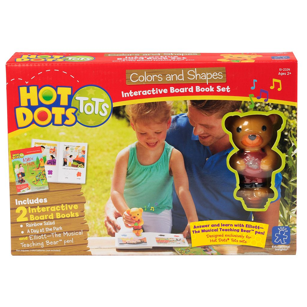 Educational Insights Hot Dots Tots Colors & Shapes Interactive Board Book Set