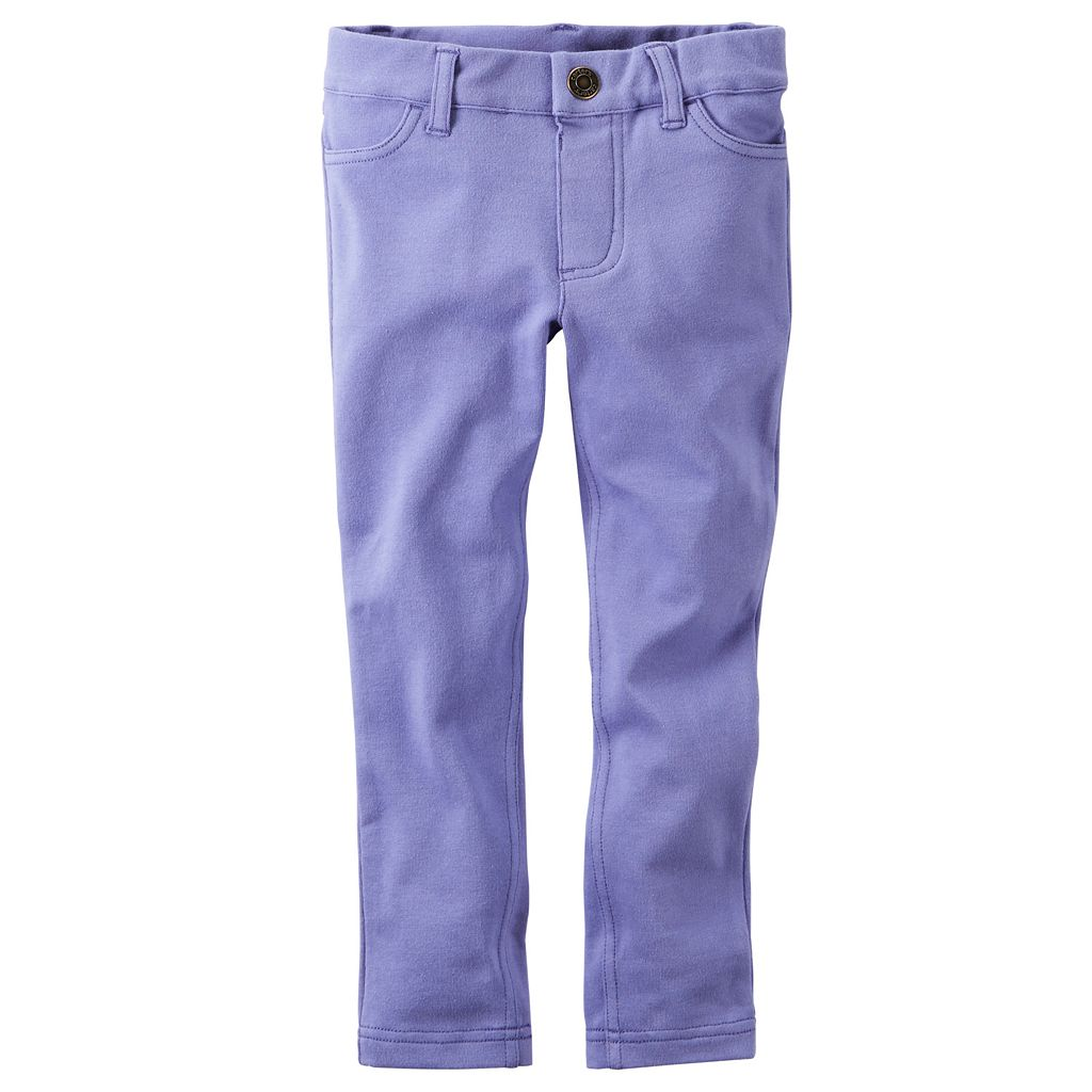 Baby Girl Carter's Purple French Terry Jeggings
