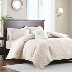 Madison Park Mansfield 2-in-1 4-piece Duvet Cover Set