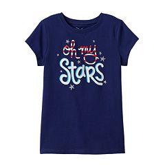 Girls 4-7 Jumping Beans® Patriotic Glitter Tee