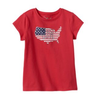Girls 4-7 Jumping Beans® Patriotic Glitter Tee