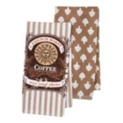 "Food Network™ French Bistro ""Coffee"" Kitchen Towel 2-pk."