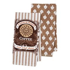 Food Network™ French Bistro 'Coffee' Kitchen Towel 2-pack