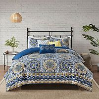 Madison Park Moraga 2-in-1 6 pc Duvet Cover Set
