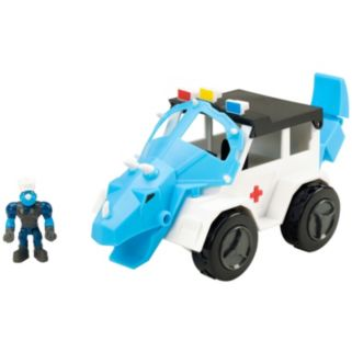 Educational Insights Dino Construction Company Turbo the Triceratops Police SUV
