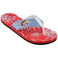 Women's Kansas Jayhawks Floral Flip-Flops