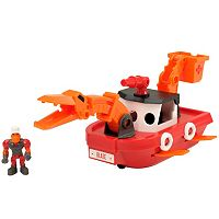 Educational Insights Dino Construction Company Blaze the Plesiosaurus Fireboat