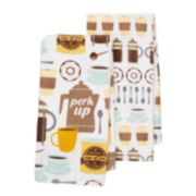 "Food Network™ ""Perk Up"" Kitchen Towel 2-pk."