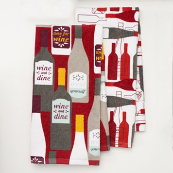 Food Network™ Wine Kitchen Towel 2-pk.