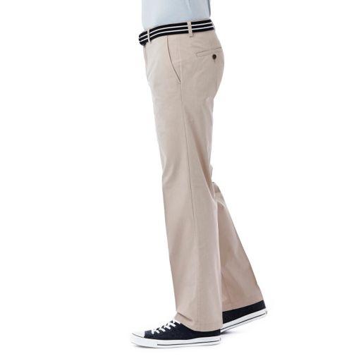 Men's Haggar Poplin Stretch Flat-Front Pants