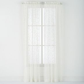 Westgate 2-pack Blair Embroidered Sheer Window Curtains
