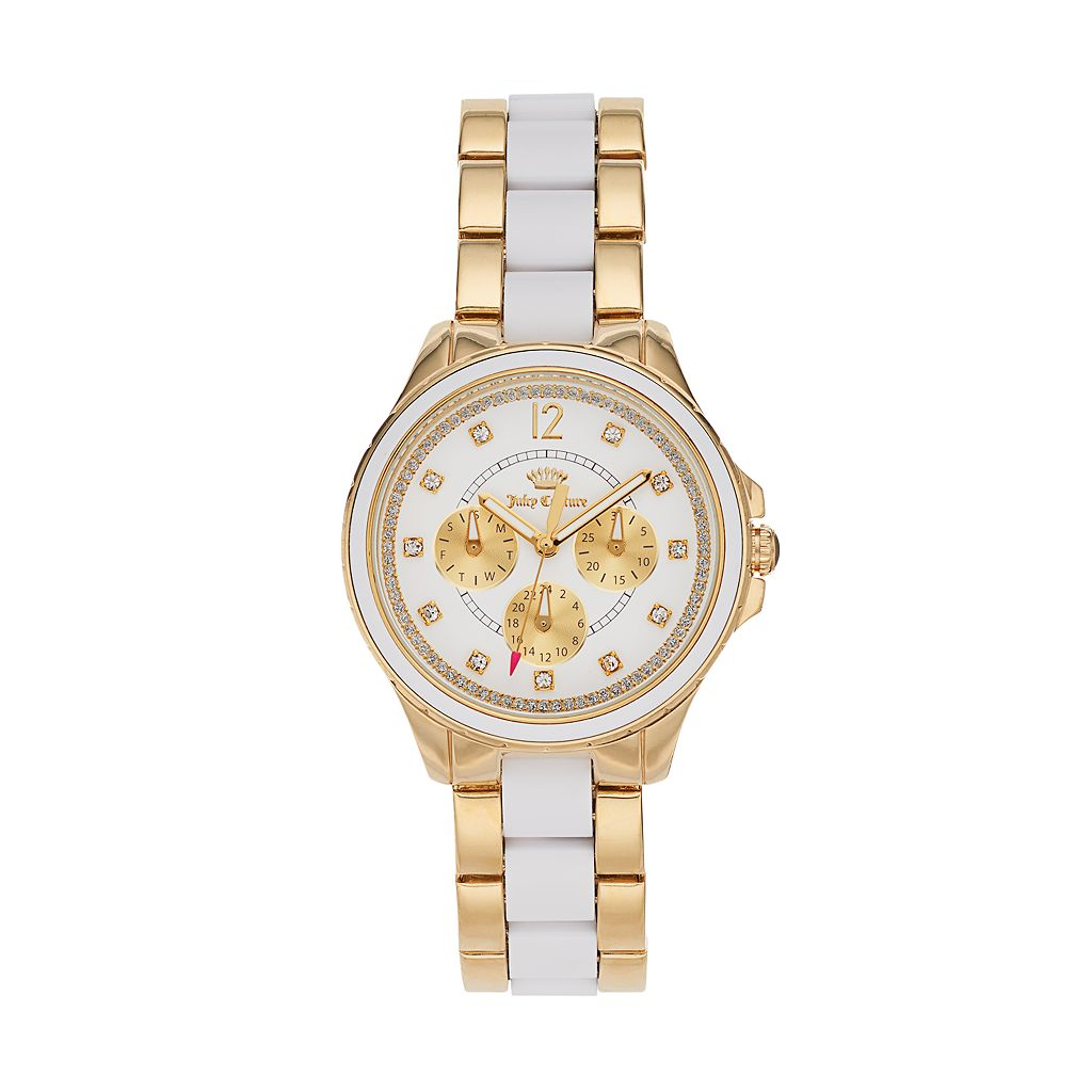 Juicy Couture Women's Gwen Crystal Two Tone Stainless Steel Watch - 1901302