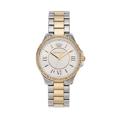 Juicy Couture Women's Gwen Crystal Two Tone Stainless Steel Watch - 1901358