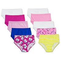 Girls 4-14 Fruit of the Loom 9-pack + 1 Bonus Signature Cotton Hipster Panties