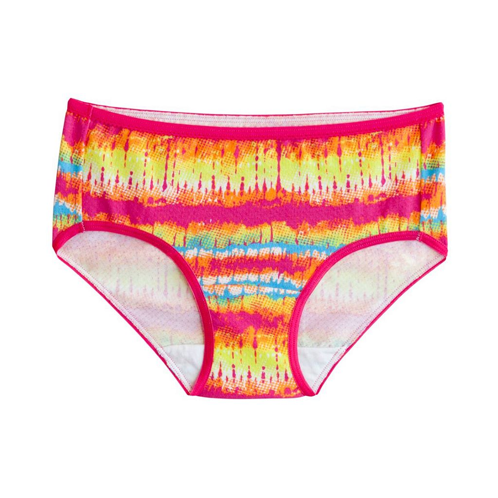 Girls 6-16 Fruit of the Loom 5-pack + 1 Bonus Signature Breathable Hipster Panties