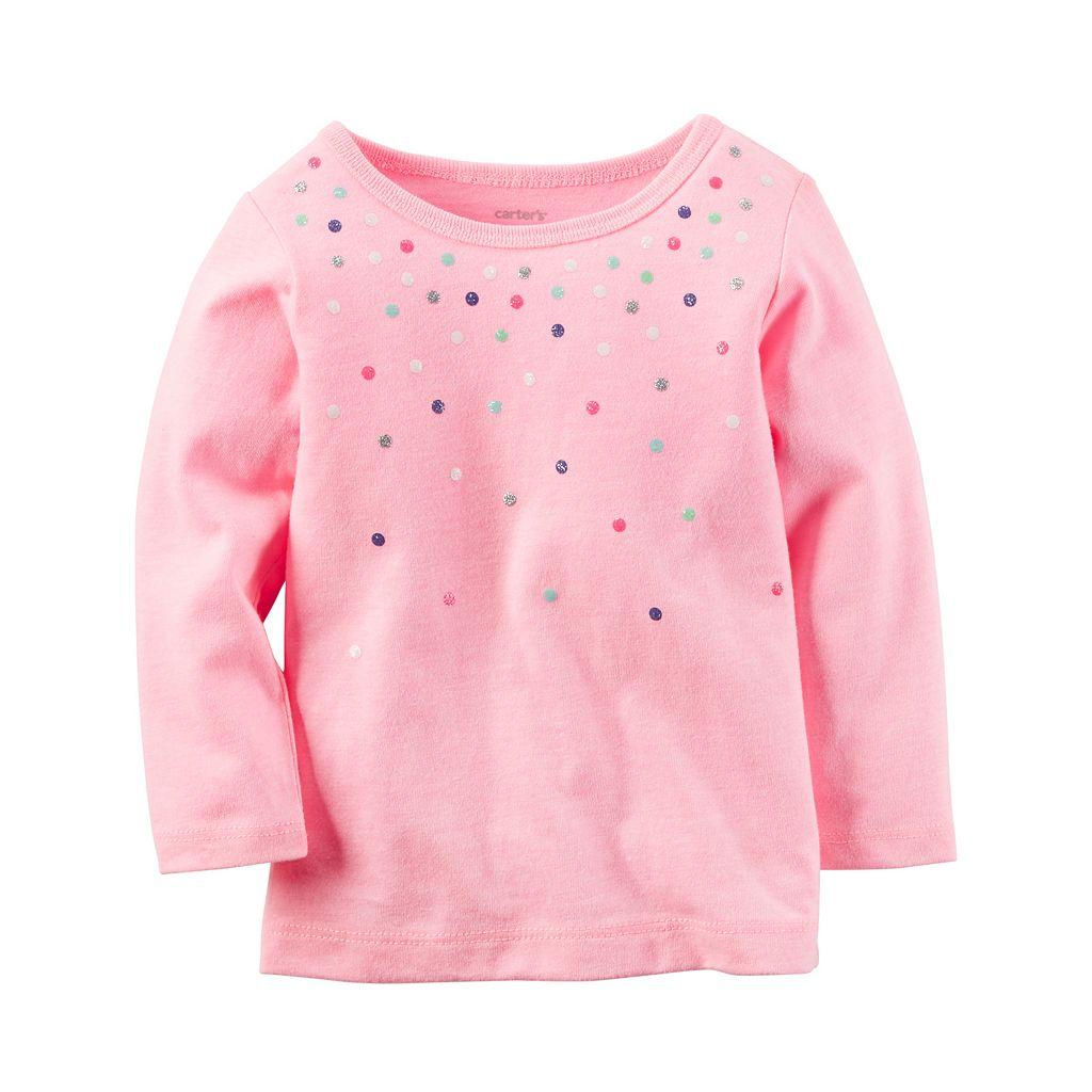 Baby Girl Carter's Glittery Dot Tee