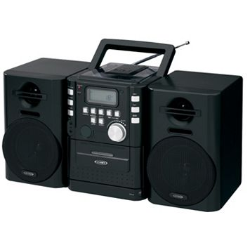 Jensen Portable CD Music System with Cassette Deck & FM Stereo Radio