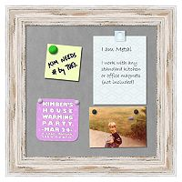 Amanti Art Alexandria Framed Whitewash Distressed Magnetic Bulletin Board