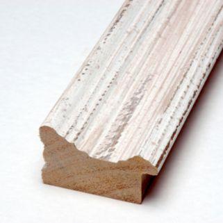 Amanti Art Alexandria Medium Framed Whitewash Distressed Magnetic Bulletin Board