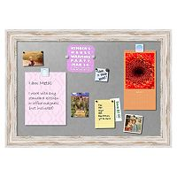 Amanti Art Alexandria Large Framed Whitewash Distressed Magnetic Bulletin Board