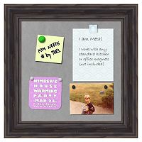 Amanti Art Small Rustic Pine Finish Distressed Magnetic Bulletin Board