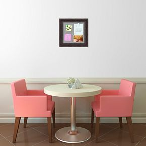 Amanti Art Small Rustic Pine Finish Distressed Magnetic Bulletin Board