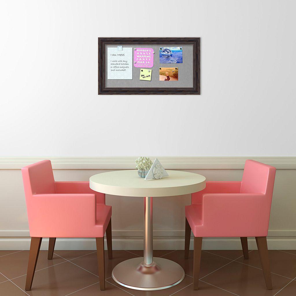 Amanti Art Medium Rustic Pine Finish Distressed Magnetic Bulletin Board