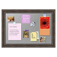 Amanti Art Large Rustic Pine Finish Distressed Magnetic Bulletin Board