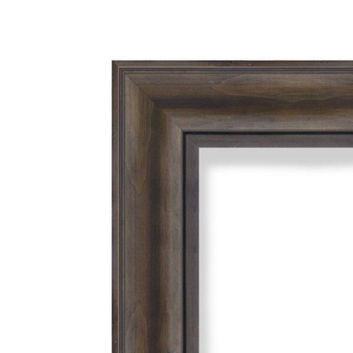 Amanti Art Large Rustic Pine Finish Distressed Magnetic Bulletin Board
