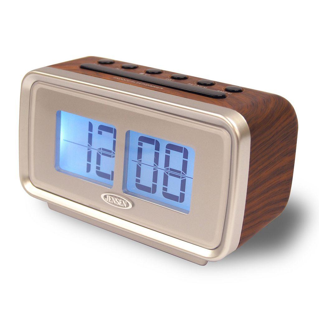 Jensen AM / FM Dual Alarm Clock with Flip Display