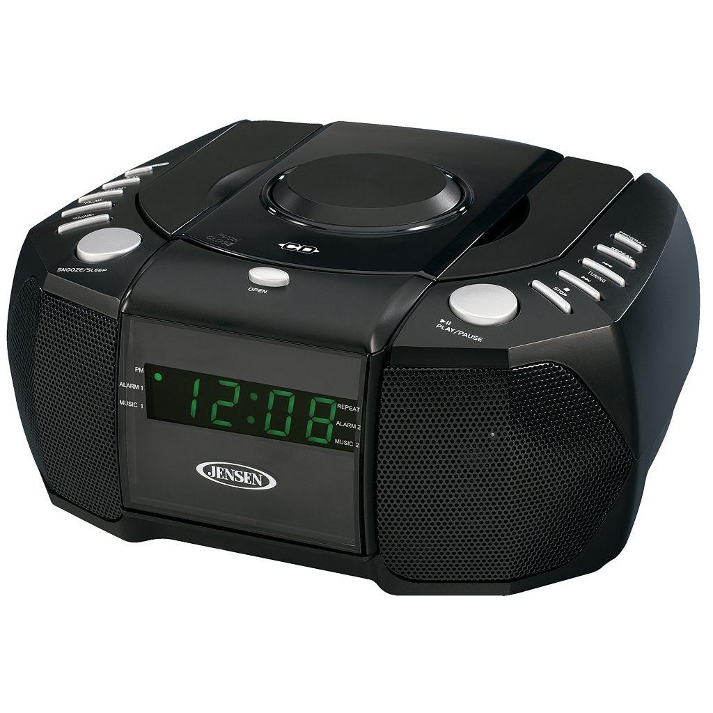 Jensen AM / FM Stereo Dual Alarm Clock Radio with CD Player