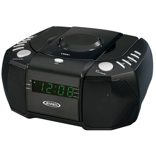 Jensen AM / FM Stereo Dual Alarm Clock Radio with CD Player