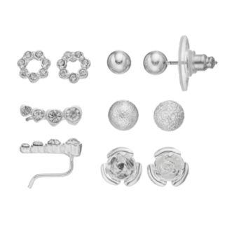 LC Lauren Conrad Flower, Heart & Ball Stud Earring Set