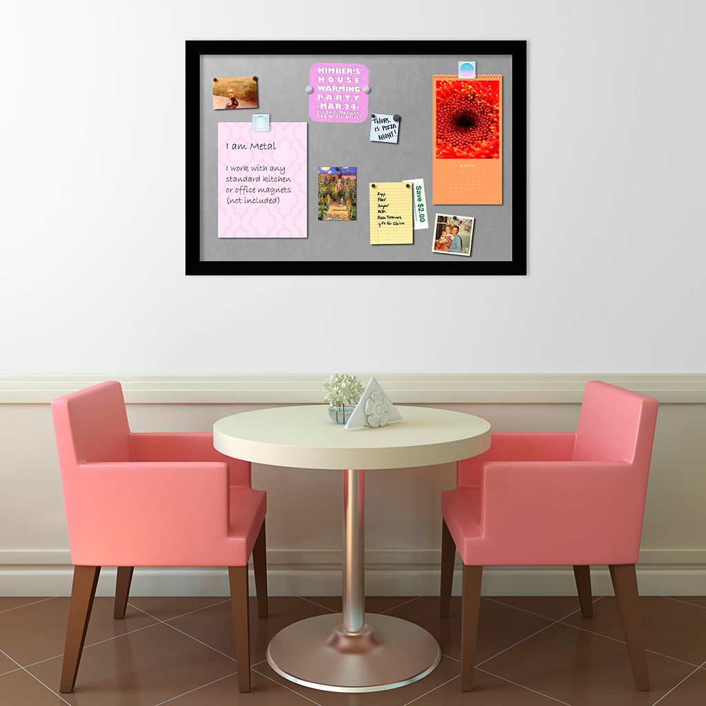 Amanti Art Mezzanotte Large Magnetic Bulletin Board