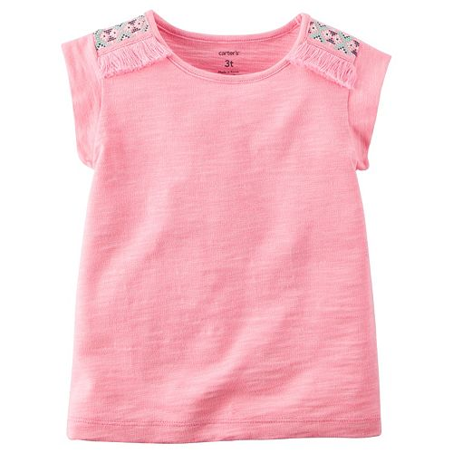 Girls 4-8 Carter's Neon Tassel Tank Top