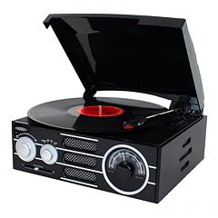 Jensen 3-Speed Stereo Turntable with AM / FM Stereo Radio