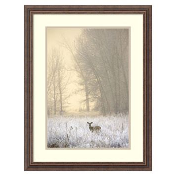 Amanti Art White-Tailed Deer in Fog Framed Wall Art