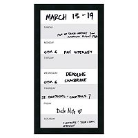 Amanti Art Mezzanotte Vertical Dry Erase Week Wall Decor
