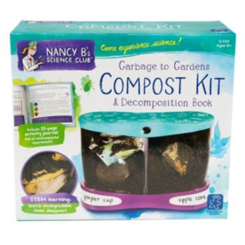 Educational Insights Nancy B's Science Club Compost Kit & Decomposition Book