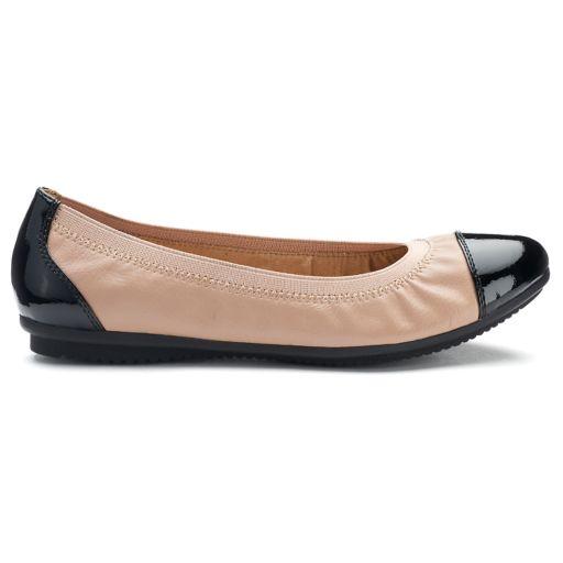 Croft & Barrow® Women's Ortholite Cap-Toe Ballet Flats