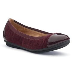 Croft & Barrow® Women's Ortholite Cap-Toe Ballet Flats