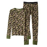 Boys Hanes Camouflage X-Temp Thermal Set