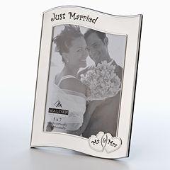 Malden® 'Just Married' Metal Frame