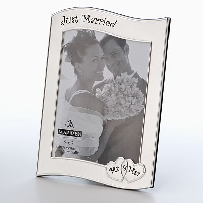 Malden Just Married Metal Frame