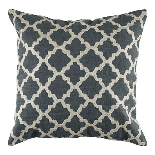 Rizzy Home Quatrefoil Throw Pillow