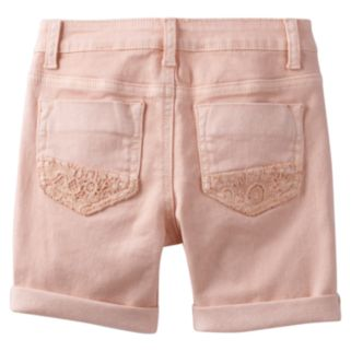 Girls Plus Size Mudd® Crochet Pocket Shorts