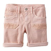 Girls Plus Size Mudd® Crochet Pocket Shorts