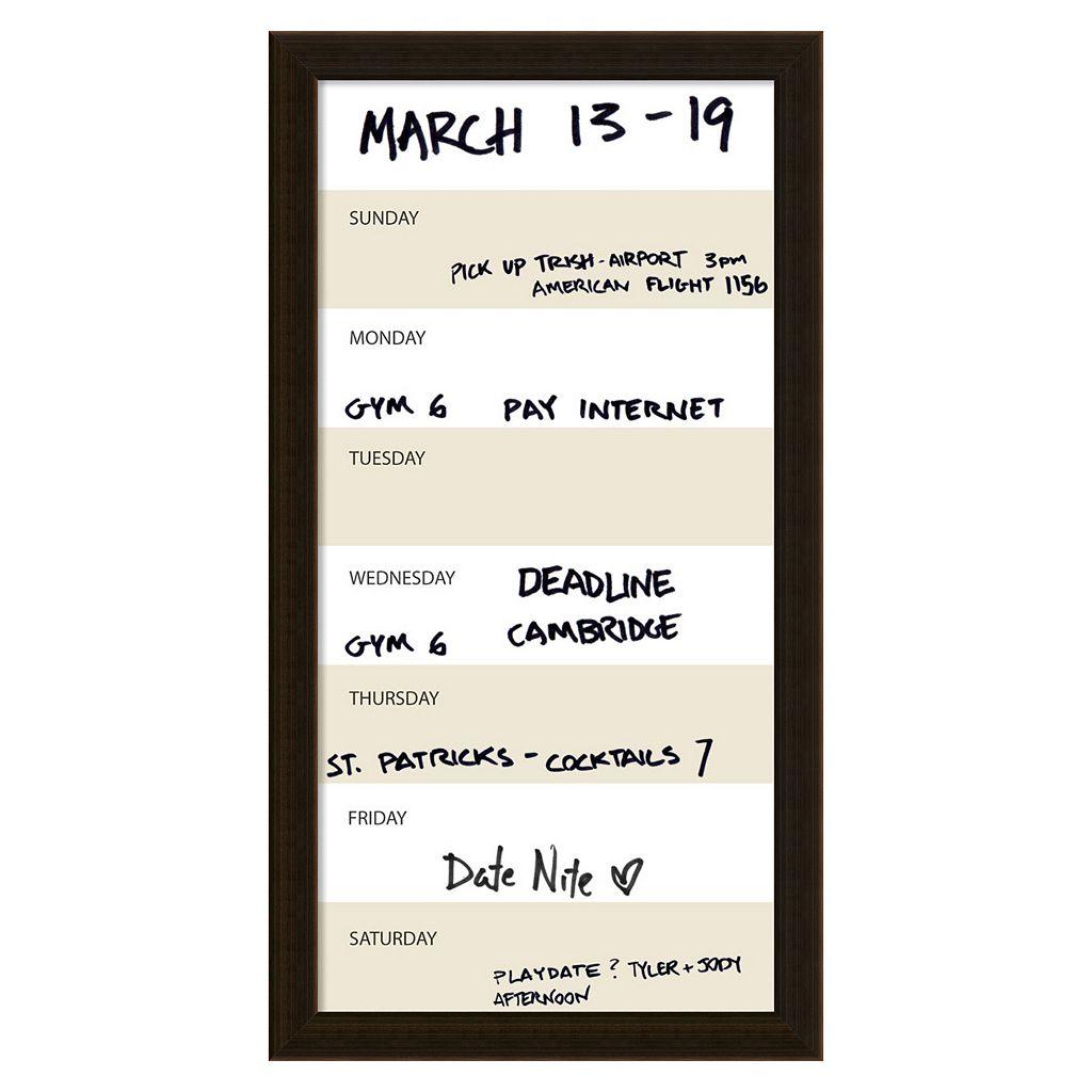 Amanti Art Vertical Dry Erase Week Calendar Wall Decor