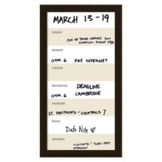 Amanti Art Vertical Dry Erase Week Calendar Wall Decor