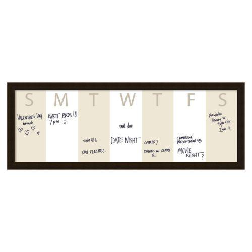 Amanti Art Horizontal Dry Erase Week Calendar Wall Decor